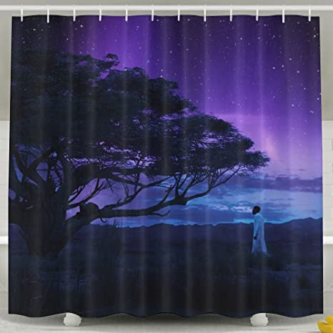 MropLtoa Angry Black Panther Wallpaper Shower Curtain Repellent Fabric Mildew Resistant Machine Washable Bathroom Anti