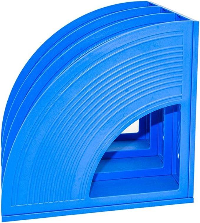con cassetti e supporti in plastica Triplicated Blue Sayeec organizer da scrivania per tenere in ordine i documenti