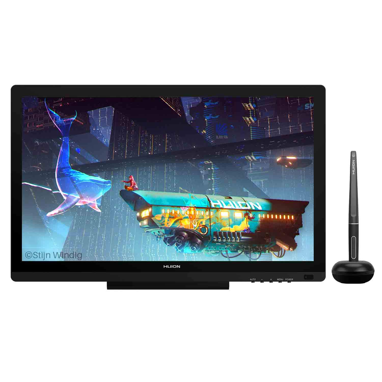 HUION KAMVAS 20 Pen Display Drawing Graphics Monitor with 19.5 Inches Battery-Free Stylus 8192 Pen Pressure 120% sRGB
