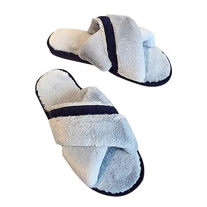 6ee84141010bd Zapatos Peludo slippers para mujer