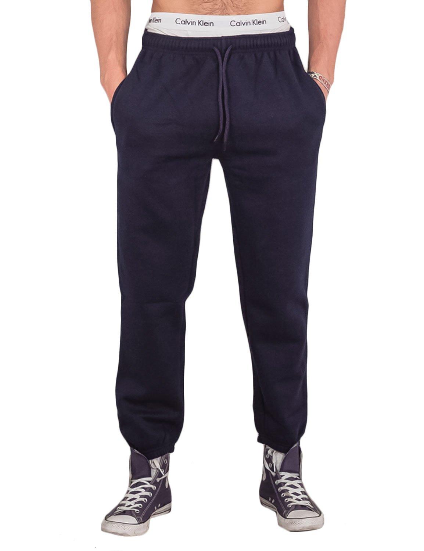 Love My Fashions Men Bottoms Joggers Lounge Pants Tracksuit Jog Bottom Fleece Zip Pockets S-XXL