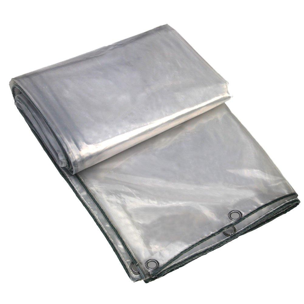 LIANGLIANG Rete Parasole Serre Antivento Ombreggiatura Antipioggia Trasparente Trasparente Resistente all'Usura Rete di Protezione per Fiori con Foro in Metallo Polietilene, Taglia 27