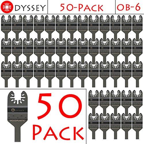 Odyssey Oscillating Multitool Thin 3/8 inch Wide Wood Plastic Saw Blade Fits Fein Multimaster Bosch Makita Genesis Dremel Craftsman Ridgid Ryobi Makita Milwaukee Dewalt Rockwell Skil Multi Tools (50 Pack)