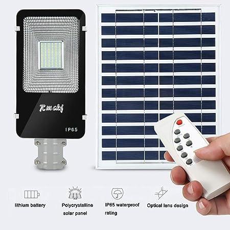 LITTER Luz Solar Exterior Jardin, Luces Solares para Jardín con Control Remoto Luces Solares para Calles Seguridad Impermeable Iluminación Inalámbrica Lámparas Solares para Cerca De Jardín,200w: Amazon.es: Hogar