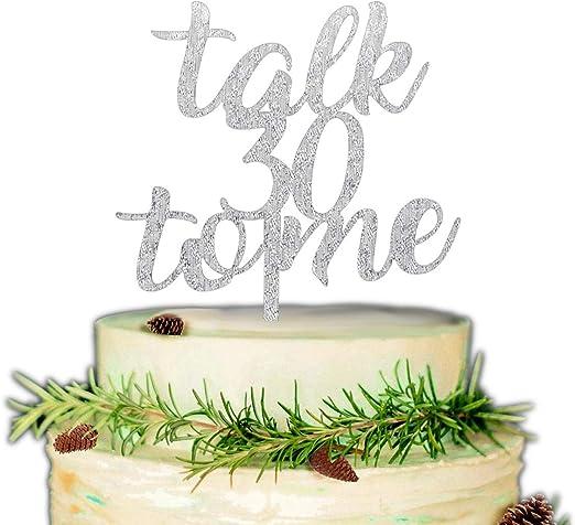 Amazon.com: Talk 30 to Me - Decoración para tarta de 30 ...