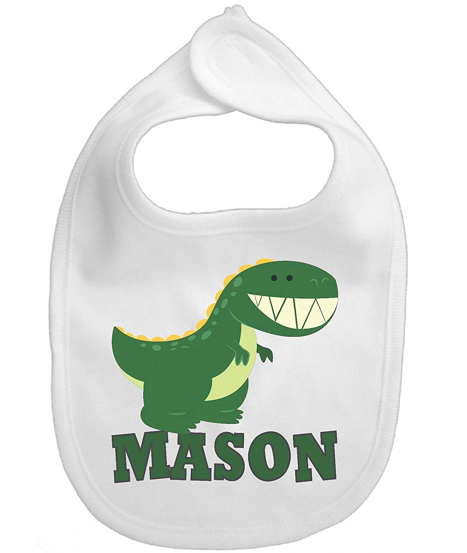 Bib Dinosaur Cartoon Personalized Custom Name Infant Baby Boy Girl Micro fiber