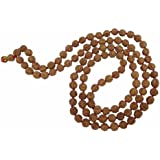 Arihant Gems & Jewels Rudraksha 5 Mukhi Jaap Mala For Pooja (Astrology) (108+1 Beads) Certified