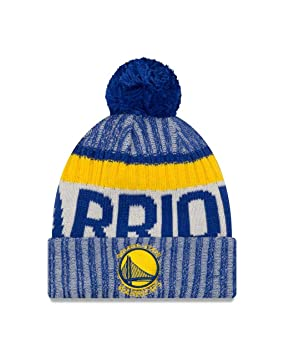 Amazon.com   New Era Golden State Warriors On-Field Sport Pom Knit Hat Cap    Sports   Outdoors 7d737f7f86b3