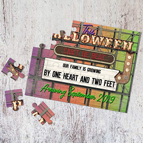 Personalized Halloween Themed Pregnancy Announcement Puzzle- Pregnancy Reveal - Baby Announcement - Having a baby Announcement - P2350