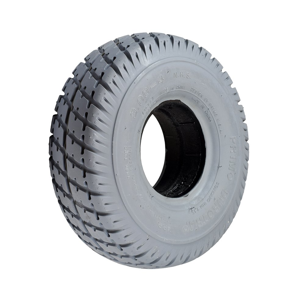 Monster Motion 3.00-4 (10''x3'', 260X85) Foam-Filled Mobility Tire with Durotrap Knobby Tread