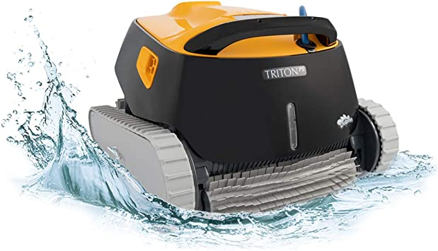 Dolphin Triton Ps Robotic Pool Vacuum Cleaner Ideal For In Ground Swimming Pools Up To 50 Feet Powerful Suction To Pick Up Small Debris Extra Large Easy