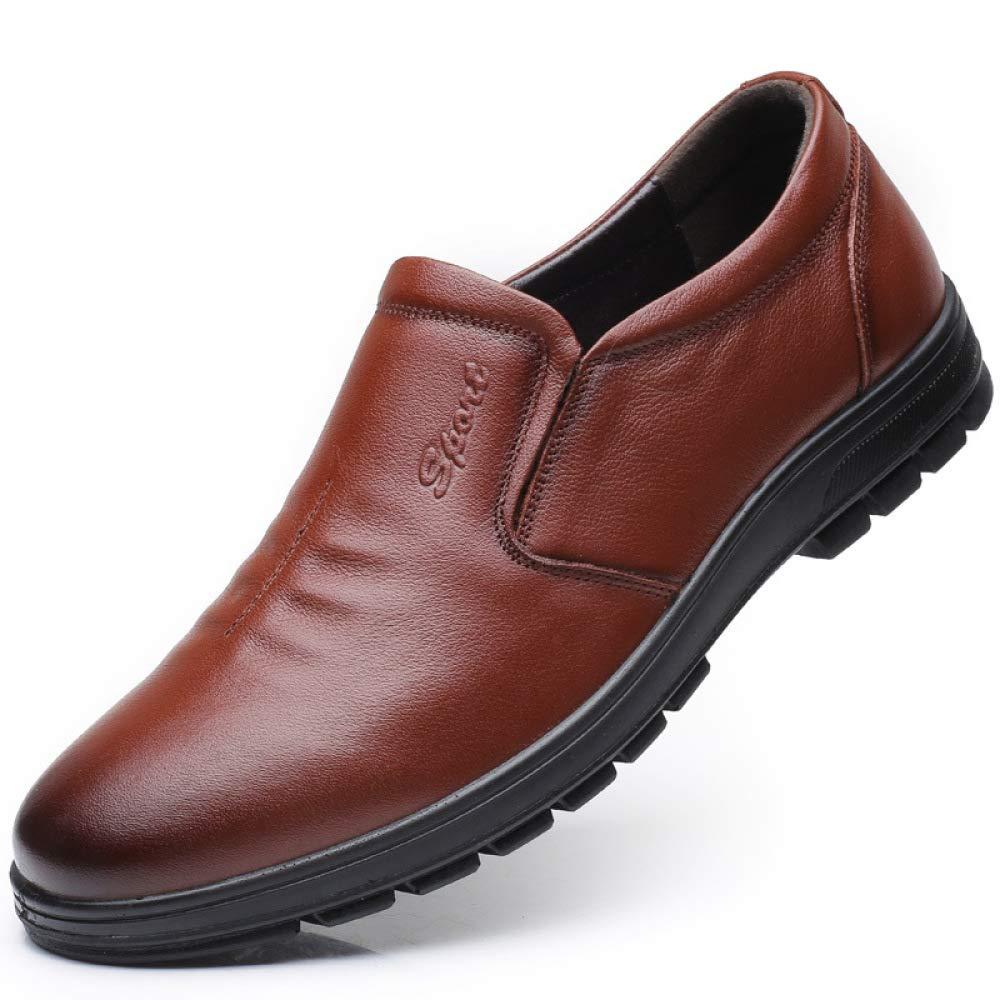 Schuhe Untere Weiche Rundkopf Herrenschuhe Bequeme Und