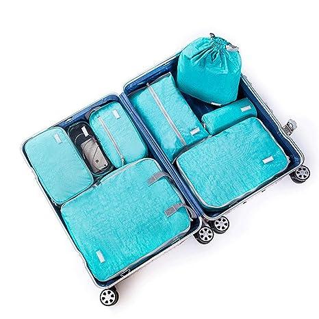 Organizadores para maletas 8 Juego de cubos de poliéster a ...