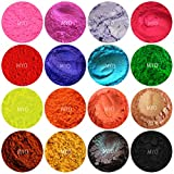 Bath Bomb Powder Colors 15 Piece Assorted Baggie Sampler Shimmer Mica & Mineral Matte Powder DIY 1/2 Gram Each Bag For Soap Making, Cosmetic, Candle Making, Nail Art, Resin Jewelry, Acrylic and other Craft Projects Set B