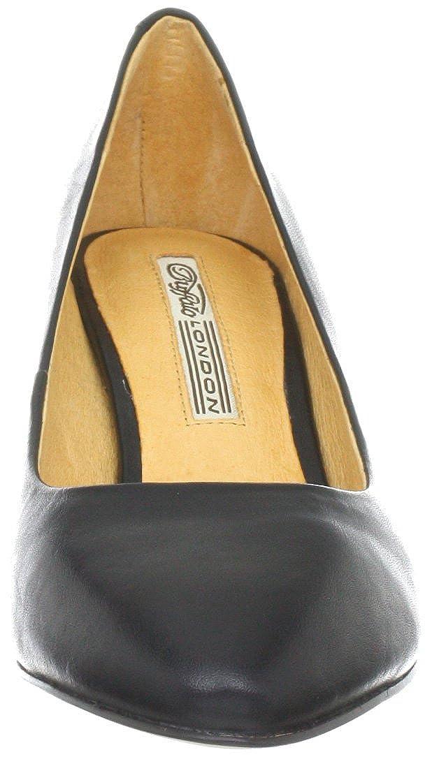 32c5896564030 Buffalo London 108-8007 - Zapatos clásicos de tacón de Cuero para Mujer   Amazon.es  Zapatos y complementos