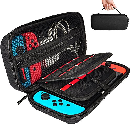 Carrying Case with 20 Game Cartridges,Protective Hard Shell Travel Storage Case for Nintendo Switch.