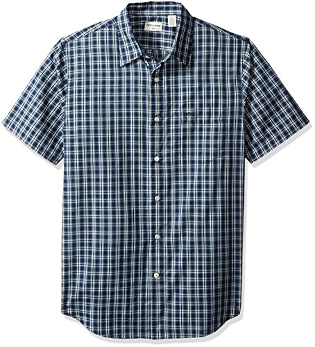 dockers-mens-short-sleeve-button-front-woven-shirt-dark-forest-medium