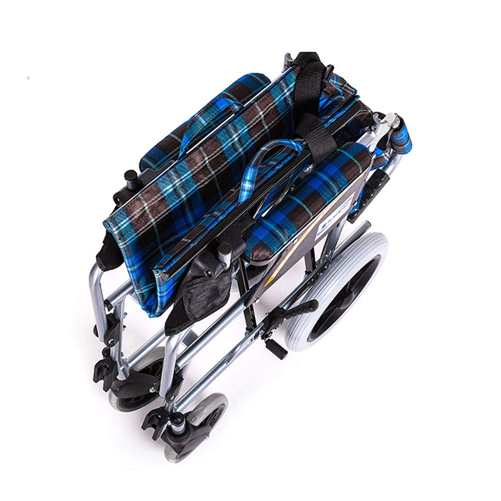 MEI XU Silla de Ruedas, Silla de Ruedas Manual portátil de aleación de Aluminio Silla de Ruedas Plegables Ligeros Ancianos discapacitados Scooter Care Car: ...