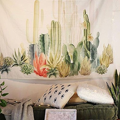 Tropical Plants Landscape Wall Tapestry Headboard Home Decor