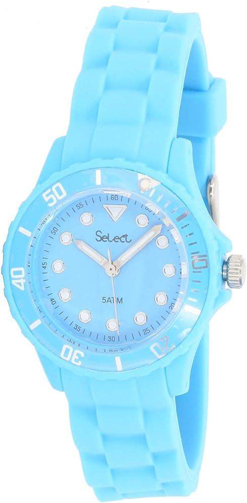 Select Lw-30-15 Reloj Analogico para Mujer Caja De Resina Esfera Color Azul: Amazon.es: Relojes