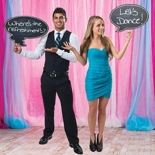 13 in. to 22 in. Chalkboard Thought Bubbles Standup Photo Booth Prop Background Backdrop Party Decoration Decor Scene Setter Cardboard Cutout
