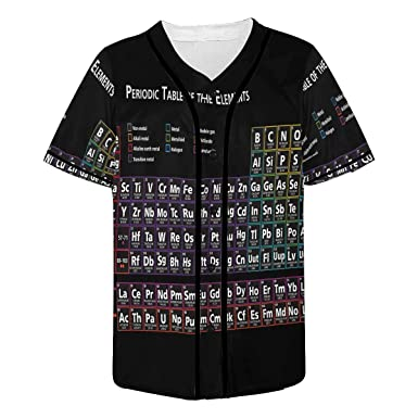 INTERESTPRINT Mens Button Down Baseball Jersey Bicycle Black