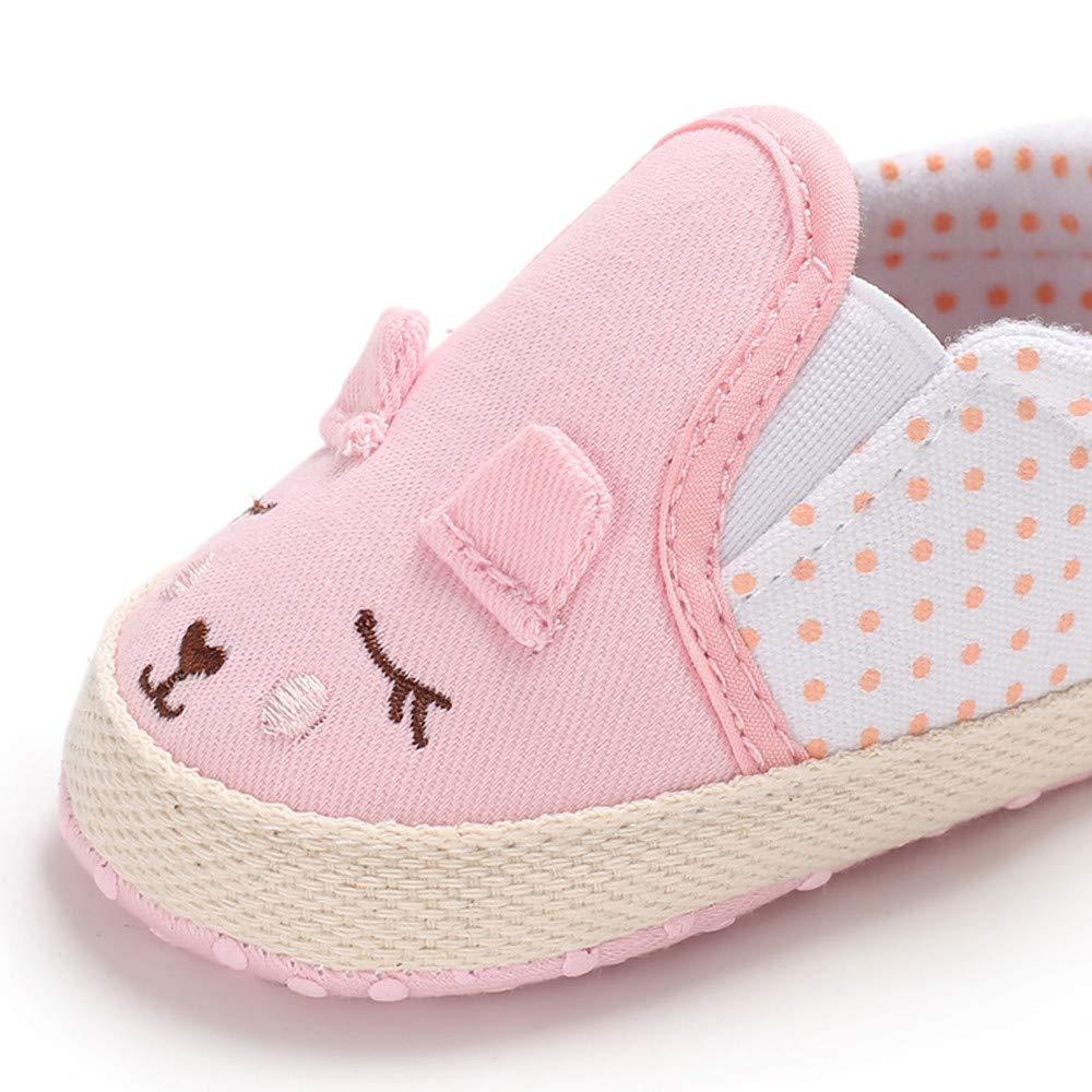 Lurryly❤2019 Newborn Baby Girls Soft Crib Shoes Winter Animal Princess Prewalker Booties 0-18 M