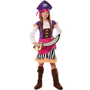 Disfraz de Pirata Morada para niña: Amazon.es: Juguetes y juegos