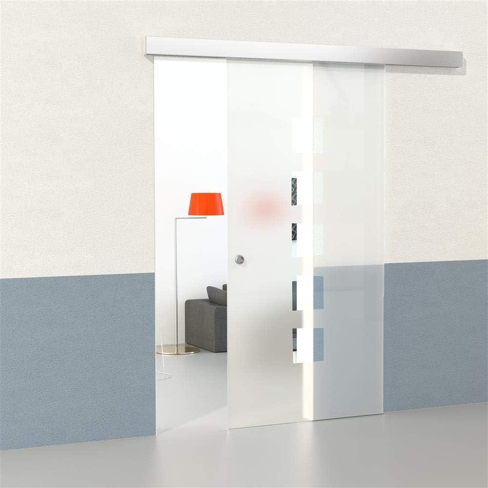 Juego de puerta corredera de cristal con cierre suave, cuadrada, 2150 x 1050 x 8 mm, puerta corredera, puerta de cristal, puerta interior, puerta de habitaciones, puerta de oficina: Amazon.es: Bricolaje y herramientas