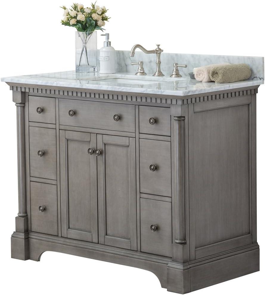 Amazon Com Ari Kitchen And Bath Akb Stella 43 Antgr Stella Vanity Set 43 Antique Grey Home Kitchen