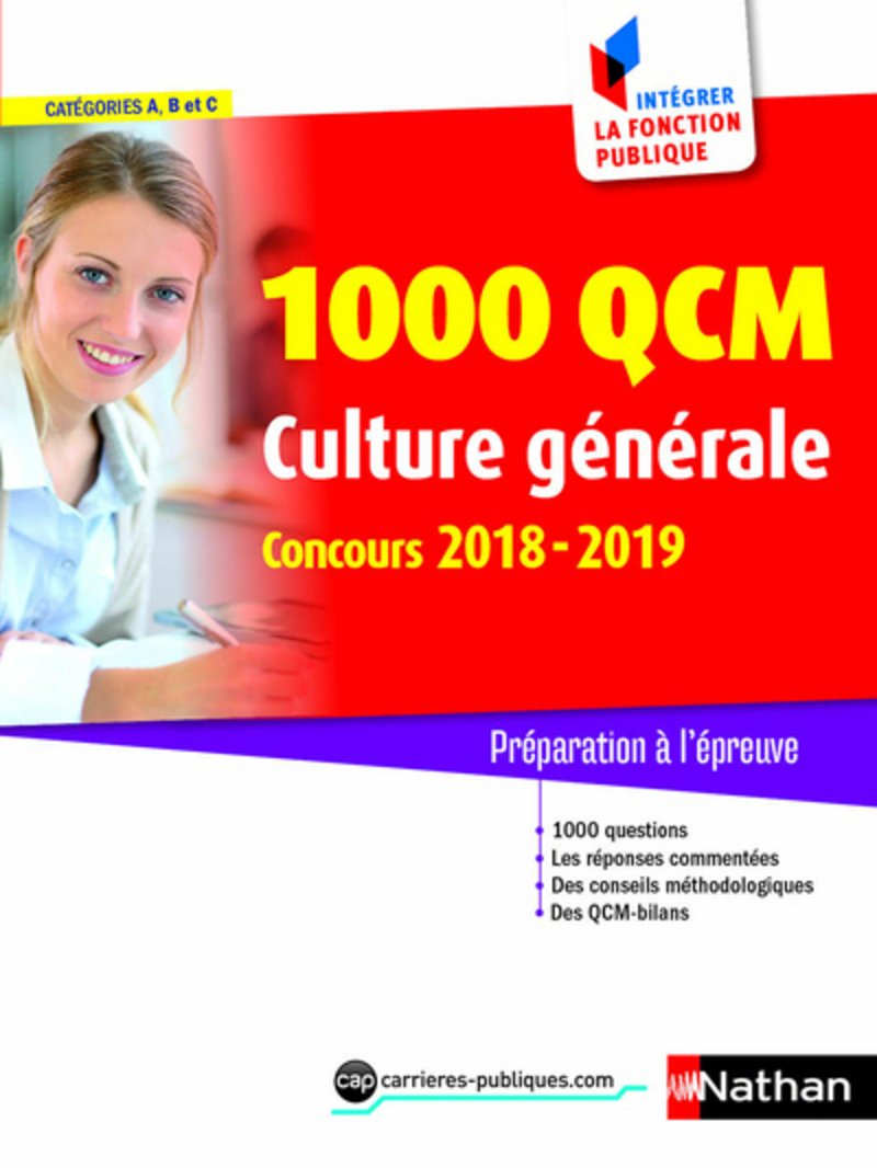 Amazon.fr - 1000 QCM de culture générale - Concours 2018-2019 (Catégories  A, B et C) - Pascal Joly, Sylvie Grasser - Livres
