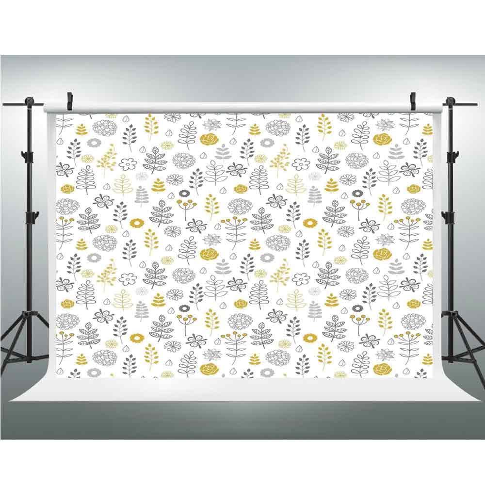 ミント、写真撮影用ビニール製背景幕、3.28x5フィート、オールドファッション花柄円形水玉模様ビンテージフェミニンファッション。 10x20ft Multi_25 B07GNS1Q5J