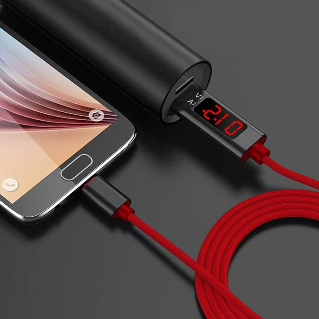 dalinana Nylon Braided Voltage Current LCD Display Fast Charging USB Type-C Data Cable Cables