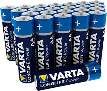 Varta De Pilas Alcalinas, Aa, Aa, Lr06, 1.5V De Alta Energía, Menor De La Caja (24-Pack): Amazon.es: Electrónica