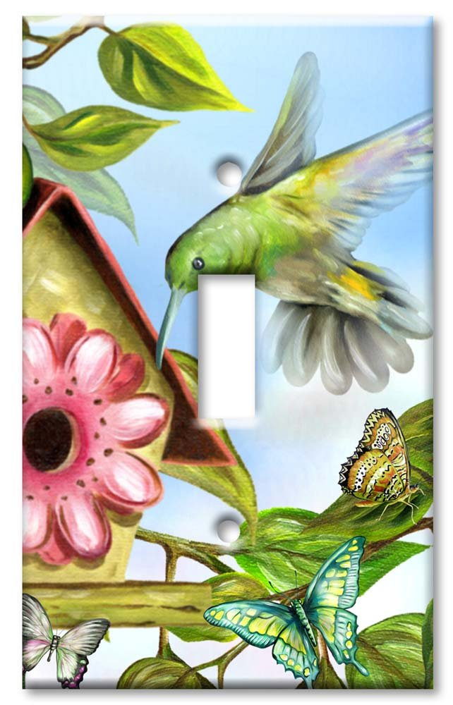 Art Plates - Hummingbird House Switch Plate - Single Toggle