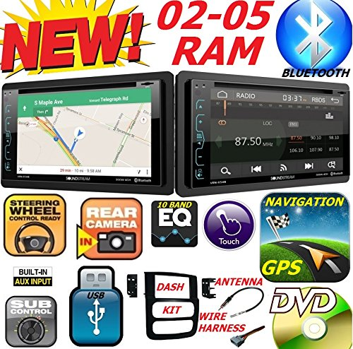 Cheap 2002-2005 DODGE RAM Double Din DVD CD GPS Navigation Bluetooth Radio Stereo