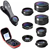 Clip Lens Kit 7 in 1 Zoom Telephoto Lens + Fisheye + Wide Angle + Macro Lens + CPL + Kaleidoscope + Super Wide Lens