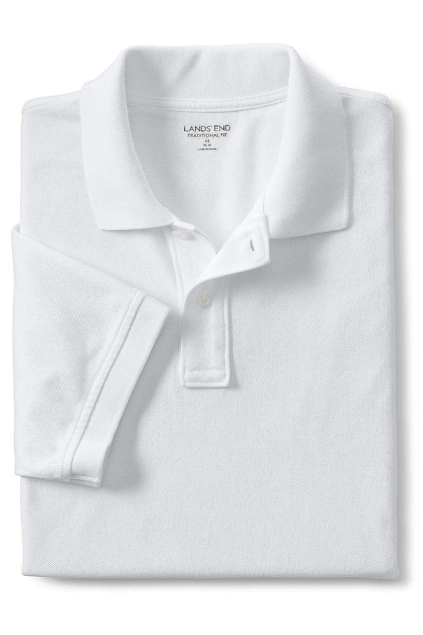 18f45f6b Lands' End Men's Mesh Short Sleeve Polo Shirt at Amazon Men's Clothing  store: