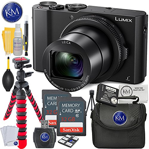 (Panasonic Lumix DMC-LX10 Digital Camera + 2 X 32GB Memory + Photo Accessory Bundle)