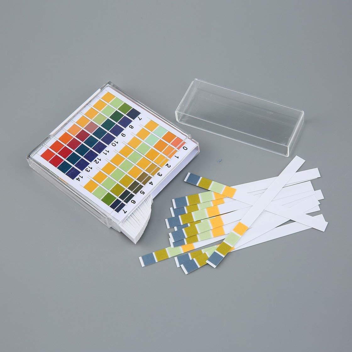 100 Tiras 0-14 PH 4 Papel de Prueba de Color Indicador de Ácido Alcalino Rollo de Medidor para Agua Orina Saliva Suelo Ensayo de tornasol Medición: ...