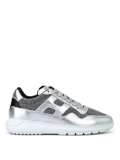 Hogan Mujer Hxw3710ap30jjd472f Plata Cuero Zapatillas: Amazon.es: Zapatos y complementos
