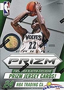 2014/15 Panini Prizm NBA Basketball Factory Sealed Retail Box with EXCLUSIVE PRIZM JERSEY CARD & BLUE MOJO PRIZMS! Look for RC's and Autographs from Andrew Wiggins, Jabari Parker and all the Top Picks