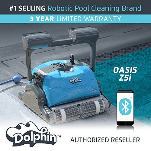 Dolphin Oasis Z5i Robotic Pool Cleaner by Maytronics, 99991079-Z5i, Ideal for In-Ground Pools Up To 50 Feet. ()