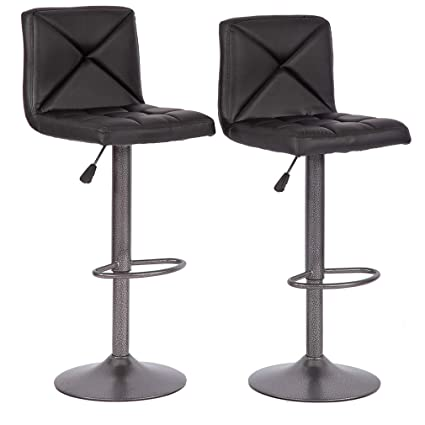 Pleasant Bestmassage Bar Stools Counter Height Adjustable Swivel Barstool Set Of 2 With Back Pu Leather Kitchen Counter Stools Dining Chairs Andrewgaddart Wooden Chair Designs For Living Room Andrewgaddartcom