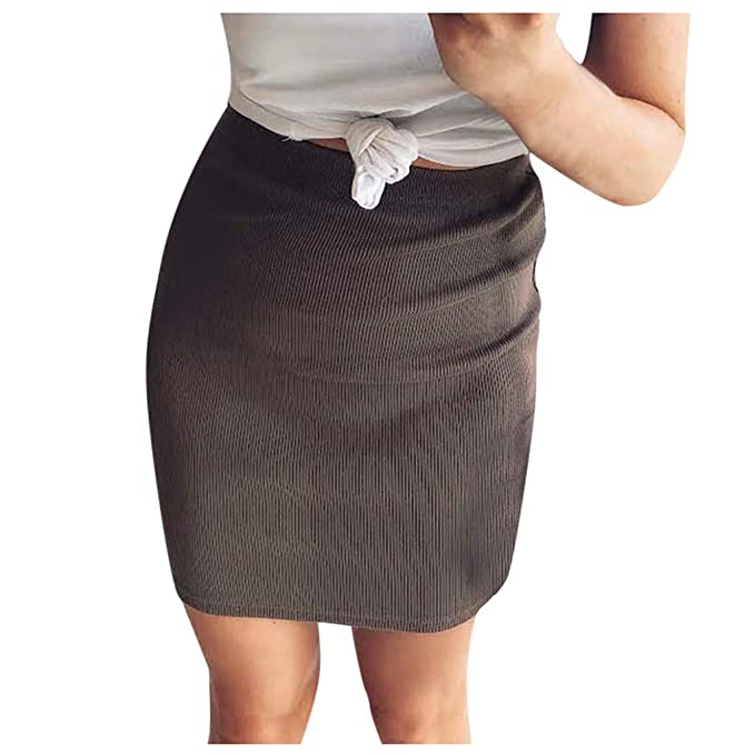 Mosstars Falda de Tubo Formal elástica Cintura Stretch para Mujer ...