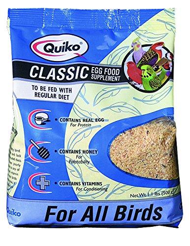 Quiko Classic - Eifutter, Kraft- und Aufzuchtfutter für alle Ziervogelarten, 6er Pack (6 x 500 g)