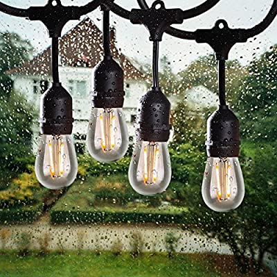 Salking LED Outdoor String Light, VOMONO Waterproof String Light