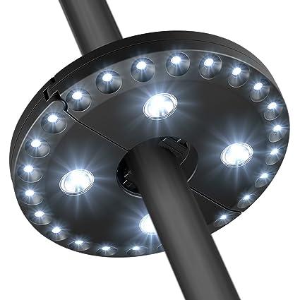 AMIR Patio Umbrella Light 3 Lighting Modes Cordless 28 LED Lights At 200  Lumens   4