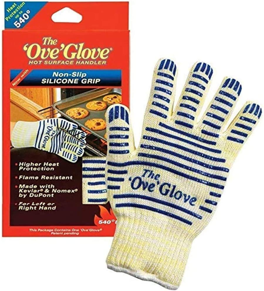 Heat Resistant 540 Degree Resistance Hot Surface Handler Oven Mitt//Grilling Glove 2PACK /'Ove/' Glove As Seen On TV Household Gift Perfect For Kitchen//Grilling
