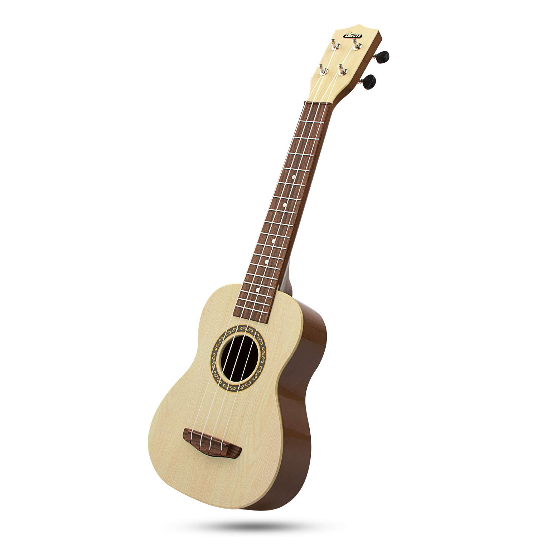 aPerfectLife Ukulele Guitar for Kids, 23 Inch Nylon-String Starter Classical Guitar for Beginner Children (Burlywood)